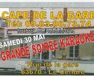 Soirée KARAOKE au Café de la gare le 30/05